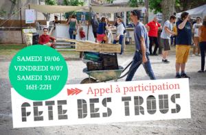 Read more about the article Appel à participation pour la Fête des Trous 2021